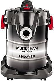 Bissell 2026M MultiClean Wet & Dry Drum - Aspirapolvere Multifunzione Umido e Secco, Funzione Compressore,