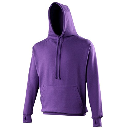AWDis Hoods -  Felpa con cappuccio  - Uomo Purple*