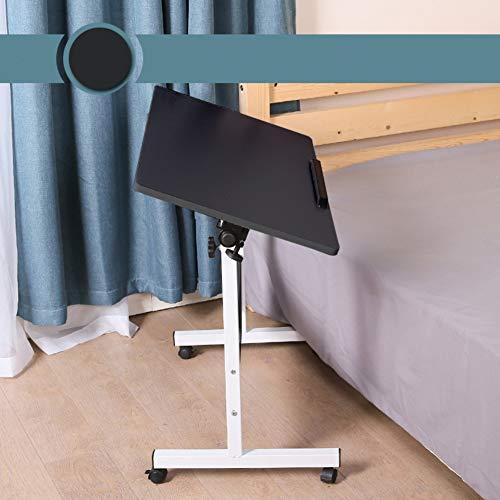 Regolabile scrivania per laptop rolling con ruote,ospedale tavolino servitore per pazienti allettati carrello per l'allattamento,tilt piedistallo del computer desktop comodino pieghevole-h 20