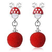 Coxeer Christmas Charm Earrings Lovely Lightweight Earrings Pierced Earrings for Girls