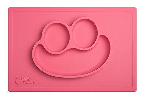 beb-turnip-divertido-comida-salvamanteles-silicona-beb-placa-y-manteles-individuales-rosa-rosa