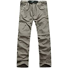 GITVIENAR 2 EN 1 Pantalones Hombres de Trekking Senderismo Pantalones de Secado rápido Deportes Al Aire Libre Pesca Pantalones Primavera Verano Tactical Protección UV Pantalones de Acampada