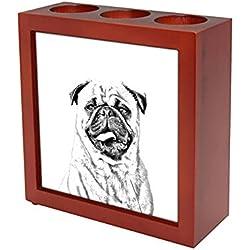 Doguillo, Soporte de madera para las velas con imagen de carlino