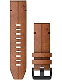 Garmin QuickFit 26 bandas de reloj - cuero castaño