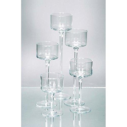 Rudolph Keramik 5 Größen Teelichthalter Kerzenglas auf Fuß COPPA D. 9cm -