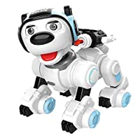 Remote Control Robot Dog Toy for Kids, RC Dog Robotic Toys for Children 3,4,5,6,7 Year Olds, Touch Sensing Smart Puppy With Blink Sing Dance, Educational Imitates Mini Pet Robot for Birthday Gift