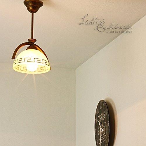 Edle Deckenleuchte Mediterranen Stil Deckenlampe griechisch Glasleuchte Lampen (Griechische Lampe)