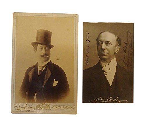 2 Portraitphotographien mit eigenhändigen Widmungen und Signaturen, Wien 1907.