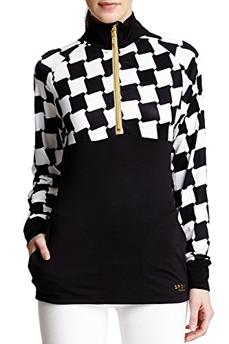 isaac-mizrahi-womens-sport-printed-knitted-track-jacket-black-white-small