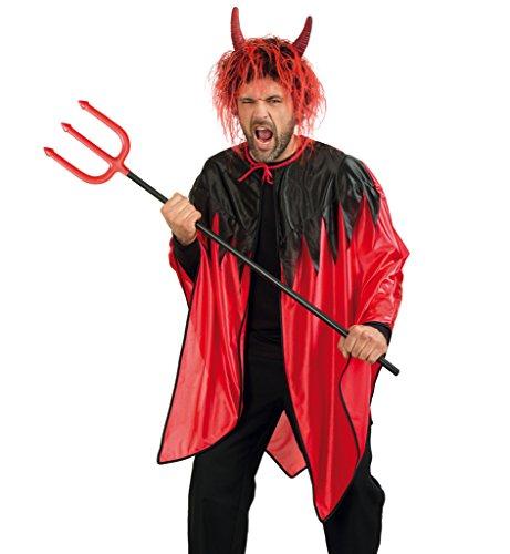 Preisvergleich Produktbild Teufelskostüm,  Teufels-Umhang,  Cape in rot-schwarz,  Herrenkostüm (XXX-Large)