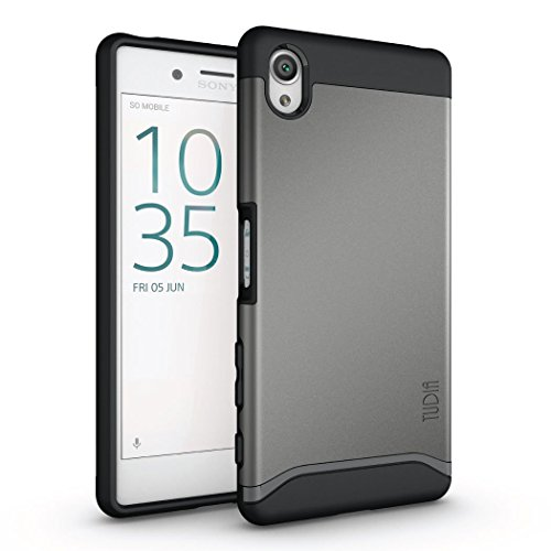 Sony Xperia X Hülle, TUDIA Slim-Fit MERGE Dual Layer Schutzhülle für Sony Xperia X (Metallic Slate)