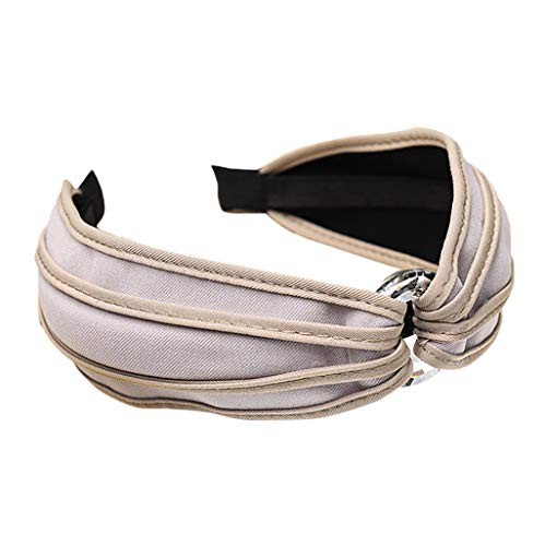 sche Weiche Stirnband Damen Twist Bow Haarband Für Frauen Einfache SüßE MäDchen Bandana Turban Stirnbänder Hochzeit Party Braut Haarschmuck ()