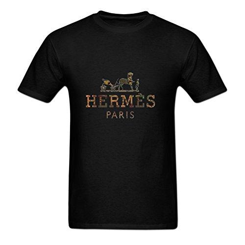 LYYJY ZI Men's Hermes Graphic Printed T Shirt Black
