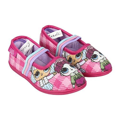 Artesania Cerda Zapatillas De Casa Bailarina LOL, Niña para Niñas, Rosa Rosa C07, 32 EU