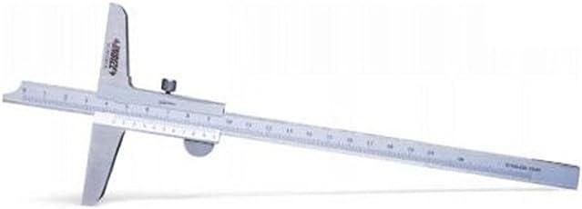 Insize 1240-1501 Vernier Depth Gauge, 0.05 mm Graduation