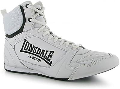 Lonsdale Botas de Boxeo pelea cuero - blanco