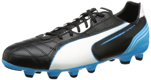 Puma  Momentta MG, Chaussures de football homme Noir - Schwarz (black-white-fluo blue 06)