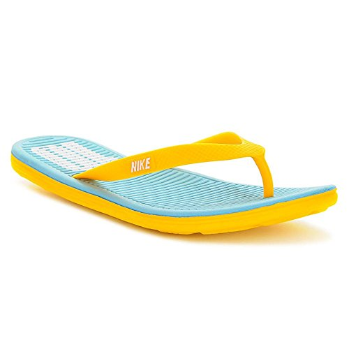 Nike - Solarsoft Thong 2 Soccer - 636545417 - Farbe: Blau-Gelb - Größe: 42.5