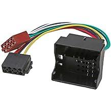 perfk ISO Cable de Convertidor Coche Adaptador de Radio Repuestos de Reparación para Audi, Golf
