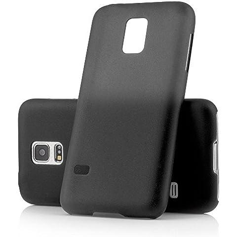 Funda ultrafina de MC24® para el Samsung Galaxy S5 Mini en negro; funda protectora fina y transparente de polipropileno