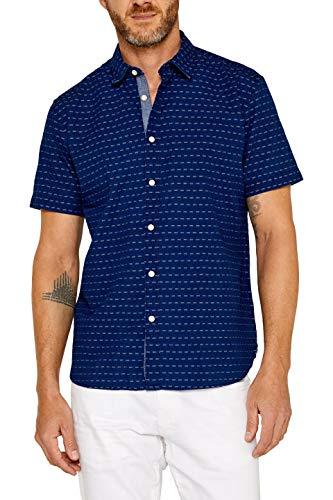 ESPRIT Herren 049Ee2F012 Freizeithemd, Blau (Navy 400), Medium (Herstellergröße: M) - Herren-shirts, Gewebten Hemden