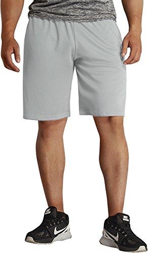 KomPrexx Pantaloncini Sportivi Uomo con Tasche Basket Calcio Shorts da Allenamento Jogging Bianco grigio