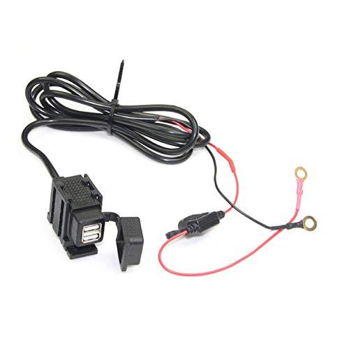 Preisvergleich Produktbild Yaoaoden Elektrische Motorrad Wasserdichte Dual USB Port Auto Ladegerät Stromversorgung Ladebuchse Adapter Universal Für Motorrad Fahrzeug