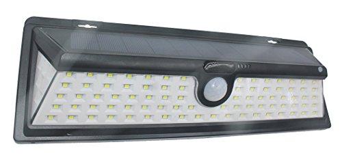 Solarleuchten für Außen Super Helle Wandleuchten Solarbetrieben Sicherheit lampe mit Bewegungs Sensor Energiesparende Wasserdichte 4 Modi (90 LED)