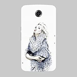 Back cover for Nexus 6 Lady Love