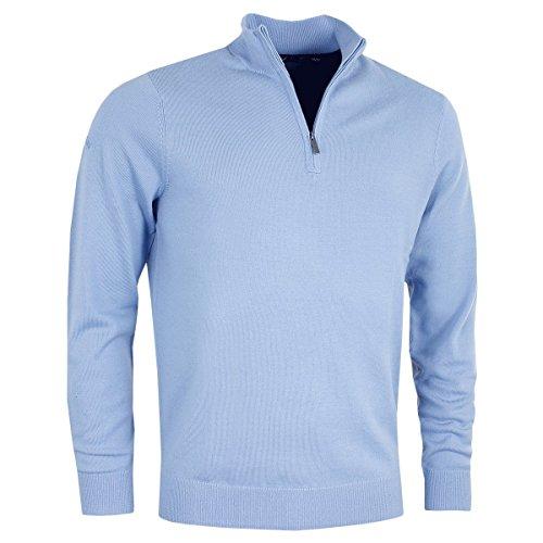 Callaway Herren 1/4 Zipped Merino Sweater mädchen Pullover, Blau (Azul Claro 450), X-Large