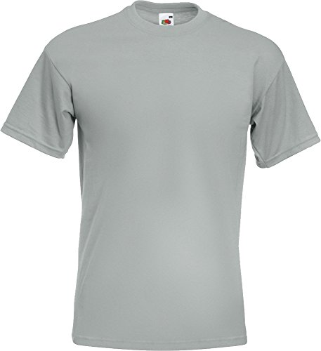 Fruit Of The Loom Herren T-Shirt, Super Premium, Rundhalsausschnitt, T-Shirt, kurze Ärmel Zink