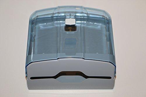 CleanSV Via Hellblau/Transparent Handtuchspender für Papierhandtücher aus Kunststoff 27 cm x 27 cm x 13 cm