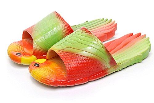 KVbaby Kinder Badelatschen Ultra-weich Papagei Hausschuhe Jungen Mädchen Dusch-& Badeschuhe Anti-Rutsch Slipper Sandalen