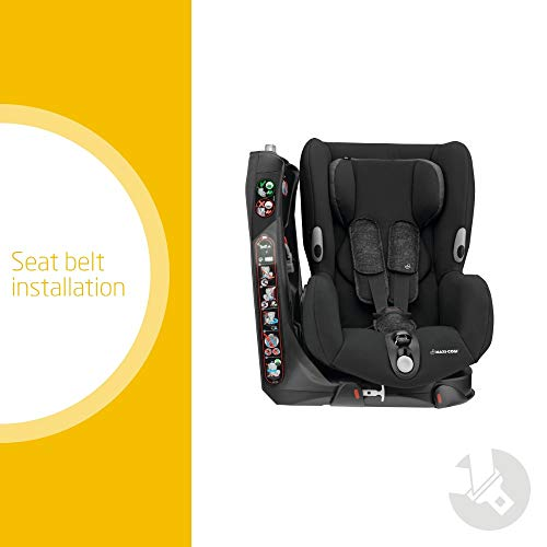 Maxi-Cosi Axiss Swiveling Toddler Car Seat, Extra Secure Fit, Reclining, 9 Months - 4 Years, 9 - 18 kg, Nomad Black