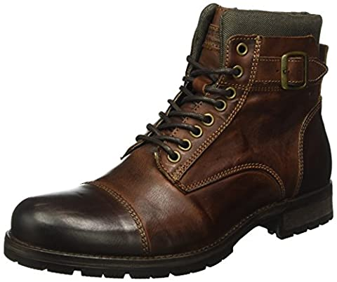 JACK & JONES Herren Jfwalbany Leather Boot Combat, Braun (Brown Stone), 40 EU