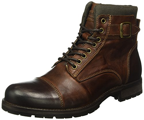 Jack & Jones Jfwalbany, Stivali Combat Uomo, Marrone (Brown Stone), 44 EU