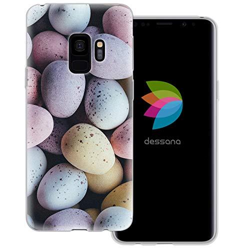 dessana Candy Süßigkeiten Transparente Schutzhülle Handy Case Cover Tasche für Samsung Galaxy S9 Oster Eier