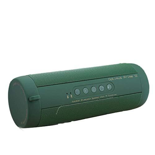 CAOQAO Enceinte Bluetooth Portable Speaker,avec Lampe De Poche,ExtéRieur sans Fil ImperméAble Haut-Parleur Audio StéRéO Basse Subwoofer Soundbox,Compatible avec IPhone, Windows, Ou Android,Vert