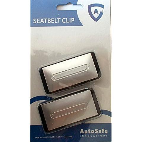 AutoSafe Innovaciones - cinturón de seguridad Comodidad Ajustador de Clip De Tapón Klunk Broche - Paquete De 3 - 6 Clips. Diseñado para reducir the tirando tensión from the cinturón de seguridad, previene it De frotamiento en su cuello, haciendo cada viaje más cómodo y para relajación