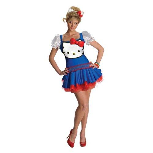 Hello Kitty Katzen-Kostüm für Erwachsene (Für Hello Kitty Kostüm Erwachsene)