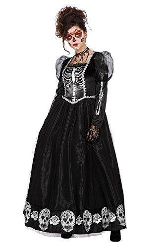 Dark Princess Halloweenkostüm Vampirin Skelett Geisterkleid (Halloween Dark Kostüm Princess)