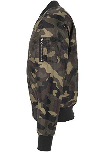 URBAN CLASSICS - Camo Basic Bomber Jacket (wood camo) wood camo