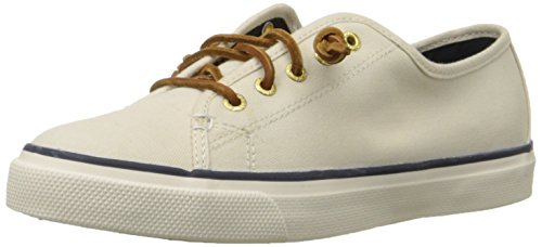 Sperry Top-Sider Women's Seacoast Fashion Sneaker, Ivory, 12 M US