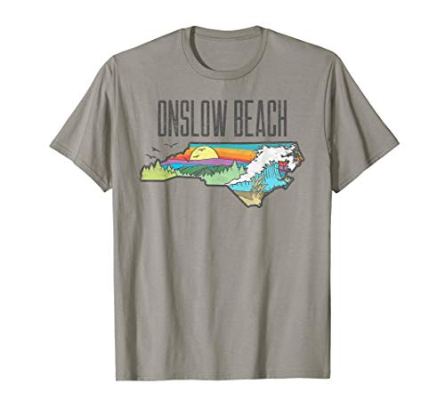 Onslow Beach State of North Carolina Outdoors Graphic  T-Shirt -