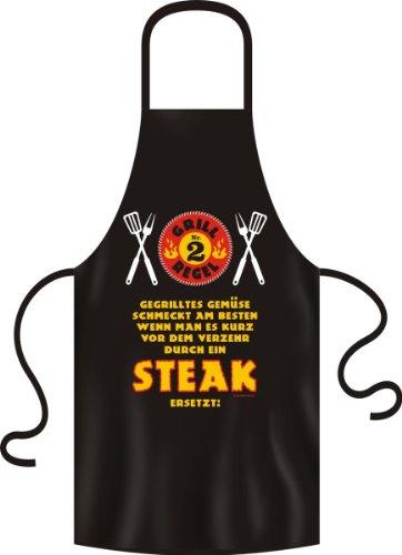 Grillschürze Original Rahmenlos ® gegrilltes Gemüse - Steak