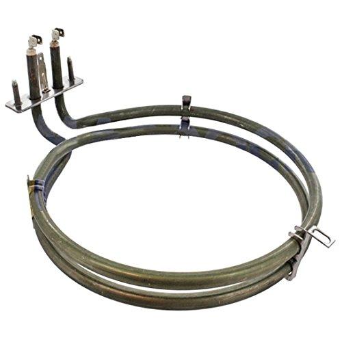 Spares2go elemento calefactor de 2a su vez para Miele H600H810serie ventilador horno cocina (2350W 2A Su Vez elemento calefactor para...