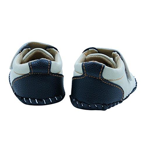Miyasudy Chaussures Bébés garçons filles Scrub cuir main Seam tête Crib chaud enfant en bas âge Automne Beige