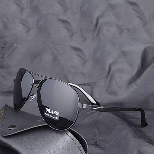 LKVNHP Neue Hohe Qualität Übergroße Polarisierte Sonnenbrille Männer Aviation Max Bis 160Mm Fahren Sonnenbrille Für Mann Marke Uv400 Schwarz FederscharnierSchwarz