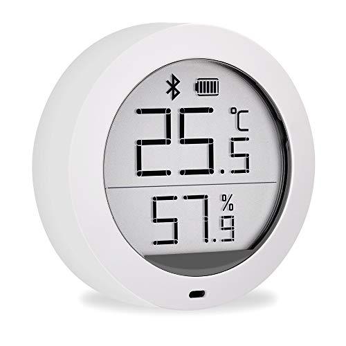 Guangmaoxin für Xiaomi Mijia Hygrometer Thermometer, Bluetooth Thermo Hygrometer mit Außensensor, LCD-Bildschirm, Magnetischer Aufkleber