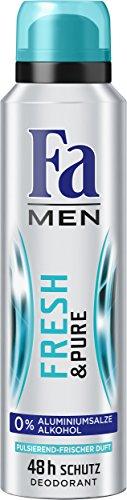 Fa Men Deospray Fresh & Pure 48h, 6er Pack (6 x 150 ml)